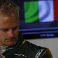Heikki Kovalainen presente en el GP de Italia 2013