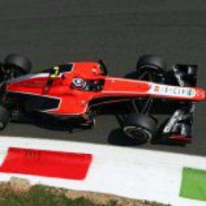 Max Chilton prueba los neumáticos medios en Monza
