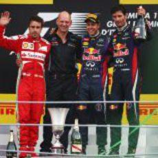 Podio del GP de Italia 2013