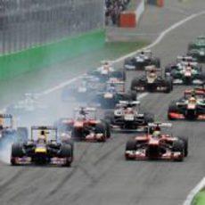 Salida del Gran Premio de Italia 2013