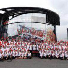 El equipo McLaren celebra el 50 aniversario