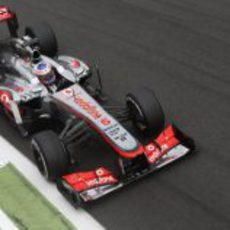 Jenson Button acabó décimo en Monza