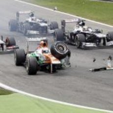 Accidente de Paul di Resta en el GP de Italia 2013