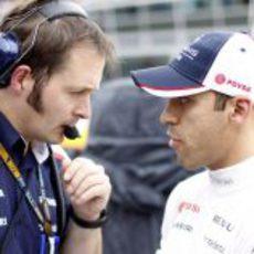Pastor Maldonado se prepara para el GP de Italia 2013