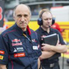 Franz Tost en la parrilla del Gran Premio de Italia