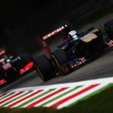 Jean-Eric Vergne afronta una recta en Monza