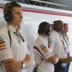 Sergey Sirotkin estuvo con Sauber en Italia