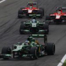 Charles Pic a por otra de las curvas del trazado de Monza