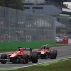 Los dos Marussia se preparan para ser doblados
