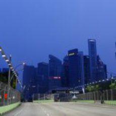 Recta del circuito de Marina Bay