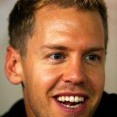 Sebastian Vettel, sonriente en Singapur