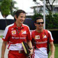Massimo Rivola y Pedro de la Rosa llegan a Marina Bay