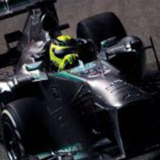 Primer plano de Nico Rosberg en Singapur