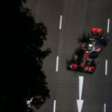 Vista de pájaro del coche de Sergio Pérez