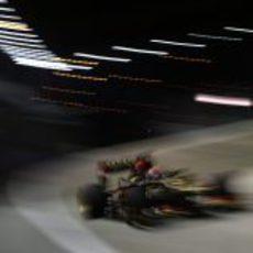 Kimi Räikkonen vuela con el superblando