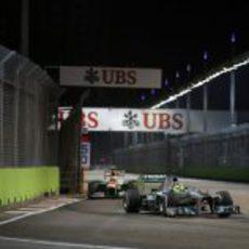 Nico Rosberg y Adrian Sutil en la clasificación