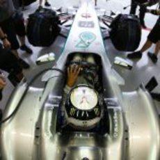 Casco actualizado para Lewis Hamilton