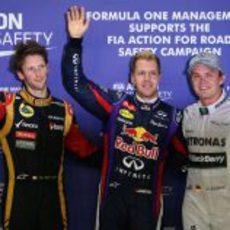 Rosberg, Vettel y Grosjean vuelan en Singapur