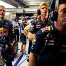 Sebastian Vettel, nervioso en la Q3