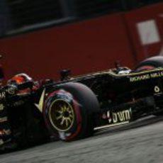 Romain Grosjean acabó tercero la clasificación en Singapur