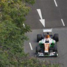 Paul di Resta en los Libres 3 del GP de Singapur