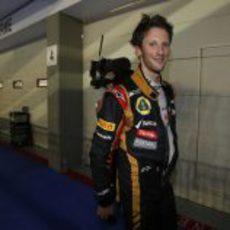 Sonrisa de triunfo de Romain Grosjean
