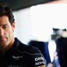 Mark Webber, pensativo en Corea