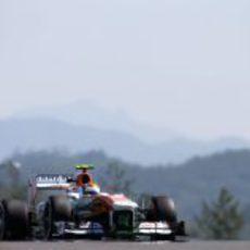 Adrian Sutil firmó una gran actuación con el Force India en Yeongam