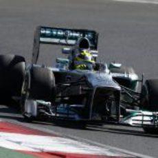 Nico Rosberg, rodando en los entrenamientos libres