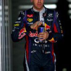 Sebastian Vettel en un descanso en Corea