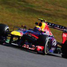 Mark Webber en una de sus últimas carreras