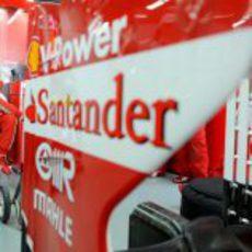Felipe Massa en su asiento