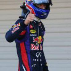 Mark Webber, tras la pole en Suzuka