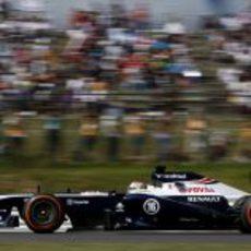 Neumático duro para Pastor Maldonado