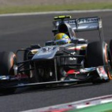 Esteban Gutiérrez disputa la Q1 en Suzuka