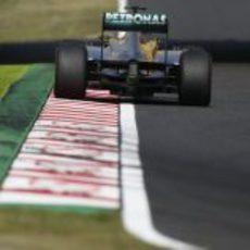 Vista trasera del W04 de Nico Rosberg en Suzuka