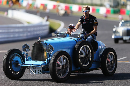 Sebastian Vettel en el 'drivers' parade'