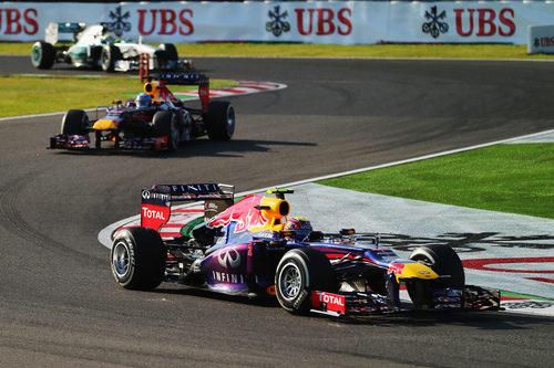 Mark Webber perdió la pole en la salida