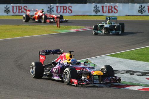 Primeras vueltas para Sebastian Vettel en Japón