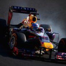 Pasada de frenada de Sebastian Vettel