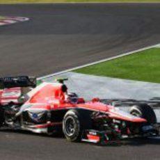 Max Chilton rueda con el compuesto medio durante el GP de Japón 2013