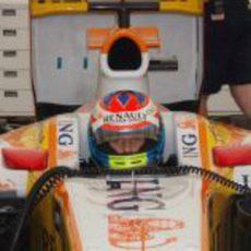 Romain Grosjean en su monoplaza