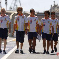 Grosjean en Valencia