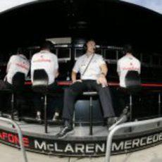 El muro de McLaren