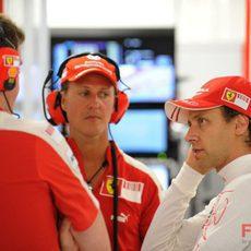 Schumacher y Badoer