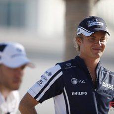 Rosberg juega a la petanca