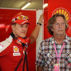 Schumacher y Clapton