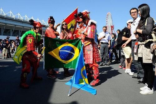 Los aficionados japoneses dejan claro su amor a Ferrari