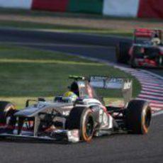 Esteban Gutiérrez logra los primeros puntos de su carrera