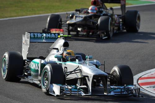 Lewis Hamilton en los primeros compases de la carrera